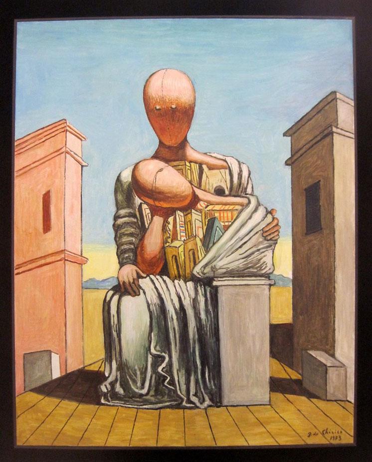 """G. De Chirico, """"Antigone consolatrice"""", 1973"""