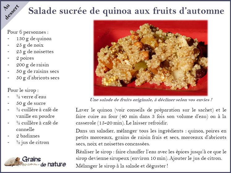 Quinoa Grains de nature produit dans l'Aube France