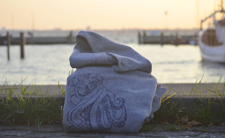 honourebel online brand store eco friendly sustainable ethical slow fashion honourebel hoodie at harbour at sunset