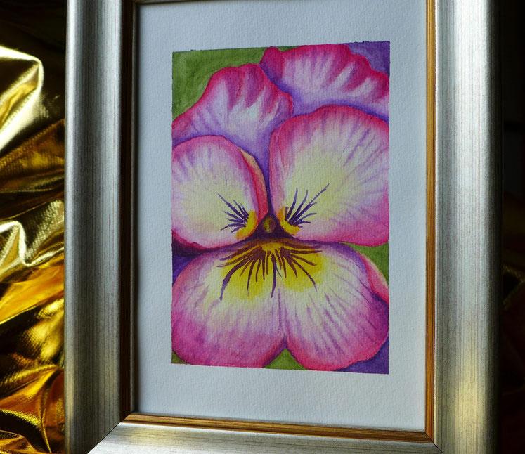 Ein Jahr mit Blumen - Stiefmütterchen malen - DIY-Projekt