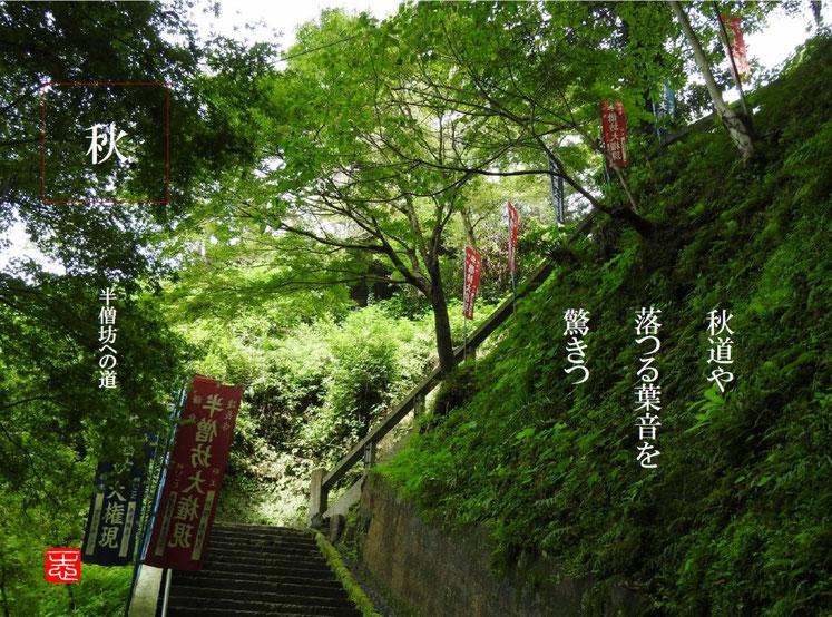 秋の道(あきのみち)鎌倉建長寺半僧坊への秋道 2016/09/25作句 撮影