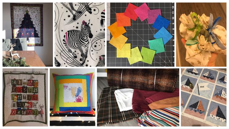 Antjes Nähprojekte, Stoffe und Quilts