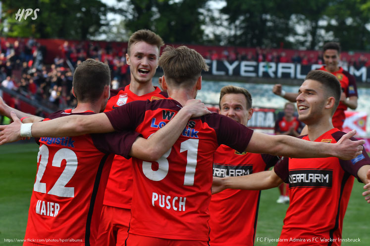 An den Spielern der Admira Patrick Schmidt, Sasa Kalajdzic und Kolja Pusch herrst reges Interesse