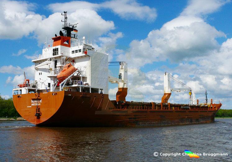 Schwergutfrachter NUNALIK , auf dem Nord-Ostsee-Kanal, 07.05.2019