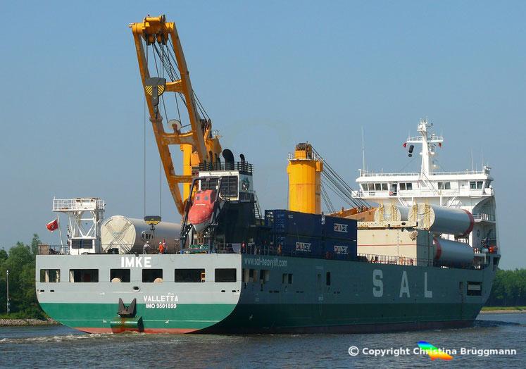 SAL Schwergutfrachter IMKE des Typs 116, Nord-Ostsee Kanal 28.05.2018