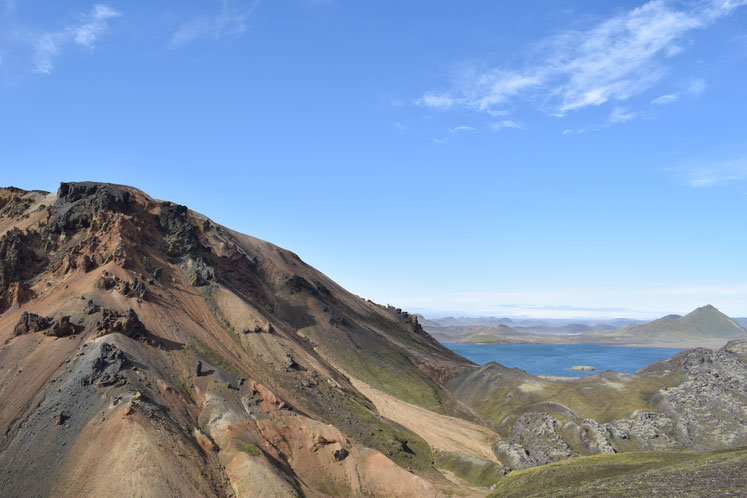 colourful mountain- day hikes from Landmannalaugar