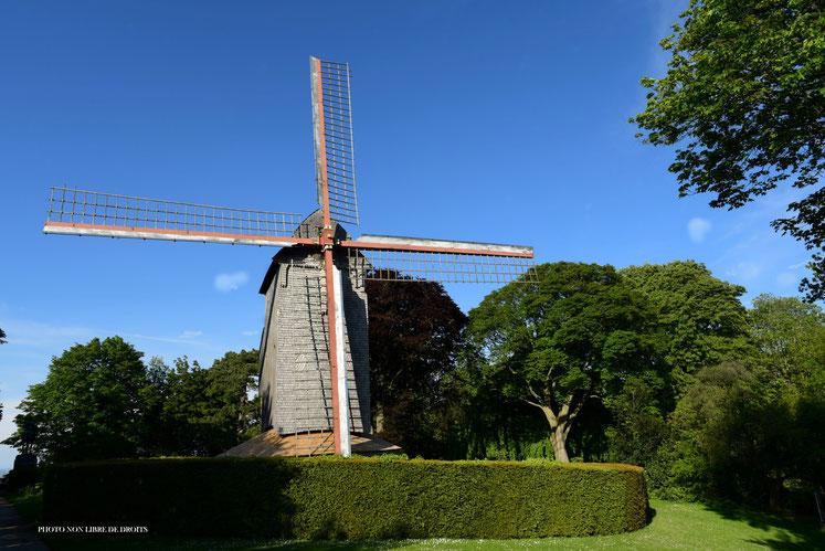 Le Moulin de Cassel, Hauts de France, photo non libre de droits