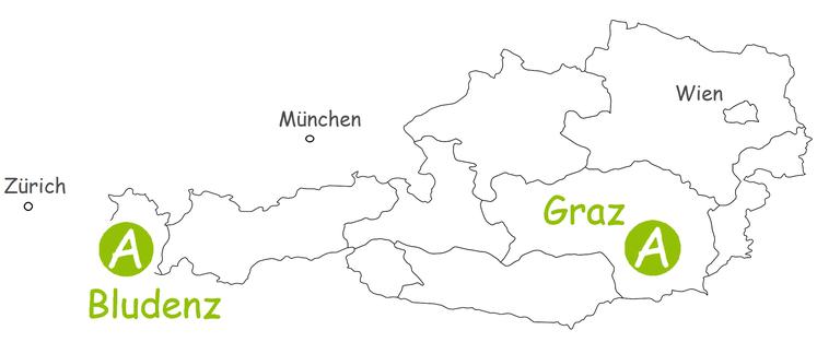 Teambuilding Standorte in Vorarlberg und Graz