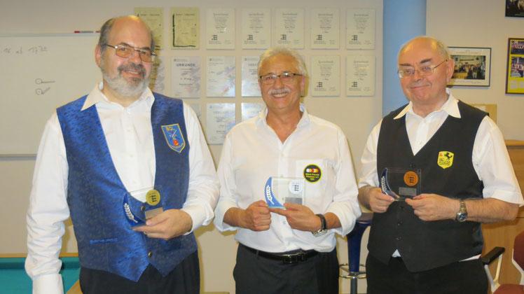 Von links: Peter Düsing, Heinz Kreuz und Bernhard Villinger
