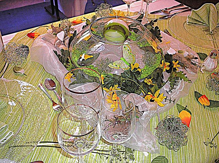 Tischdekorationen - Frühlingserwachen - Schmetterlinge