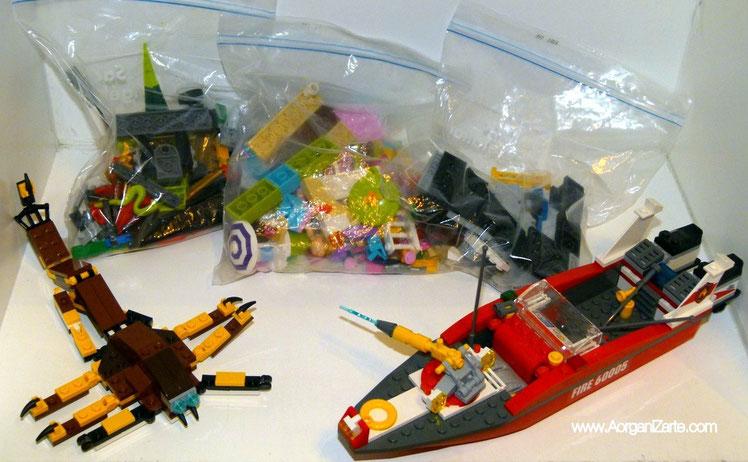 Lego clasificado en bolsas - www.AorganiZarte.com