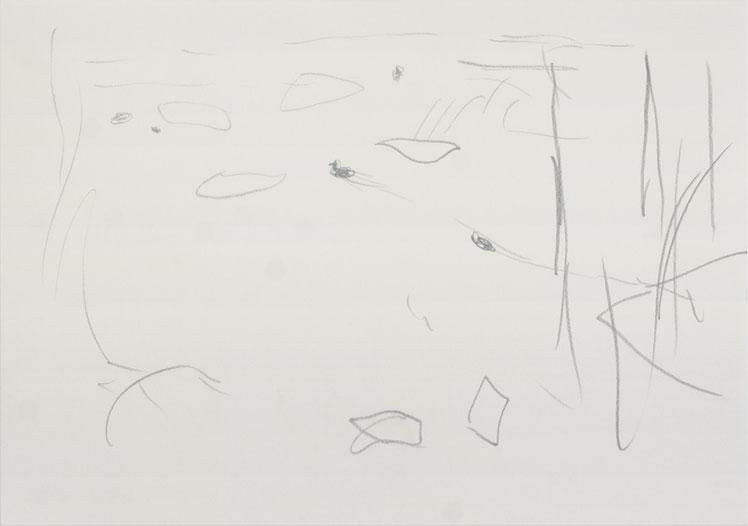 O.T. (Spree5) / 2016 / 21 x 29,7 cm / Bleistift auf Papier