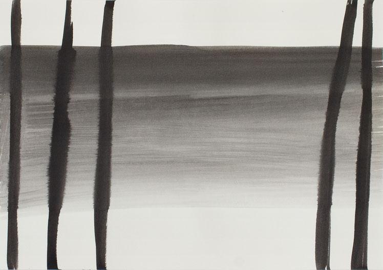 O.T. (Spree6) / 2016 / 21 x 29,7 cm / Tusche auf Papier