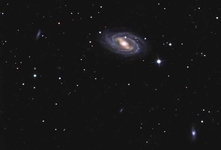 Die Balken-Spiralgalaxie M109 aufgenommen am 22. 23. und 24. März 2020 in der Sternwarte Flumenthal mittel LRGB.