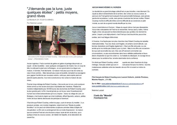 Le Monde_01 octobre 2013