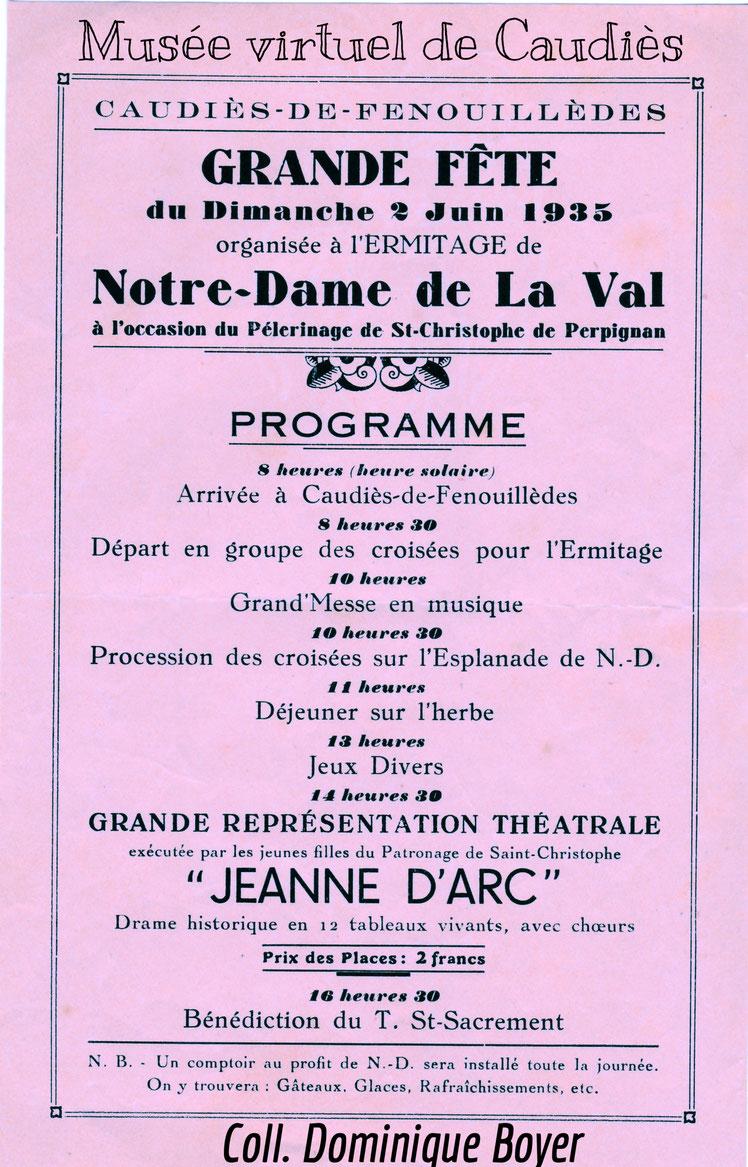 NDL fête  Jeanne d'Arc 1935