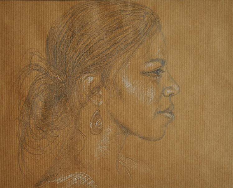 dessin-art-portrait-melanesienne-nouvelle-caledonie