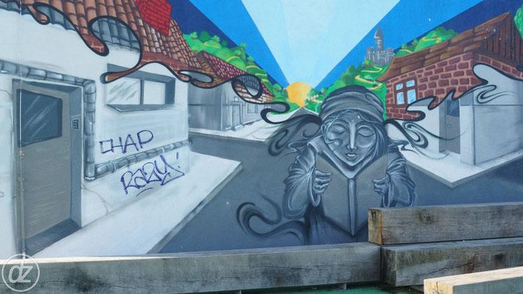 Wandbild im Park am Gleisdreieck