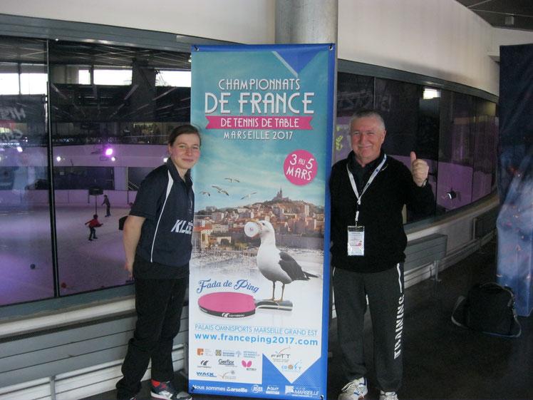Emeline en 16eme de finale au Championnat de France à Marseille 2-3-4 mars 2017