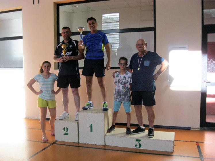 Podium consolante 30ème tournoi de St-Gély 17-06-17