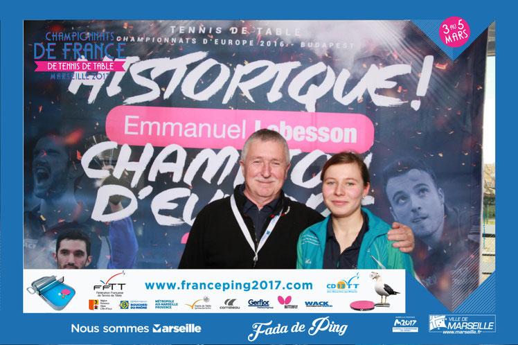 Emeline en 16ème de finale au Championnat de France à Marseille 2-3-4 mars 2017