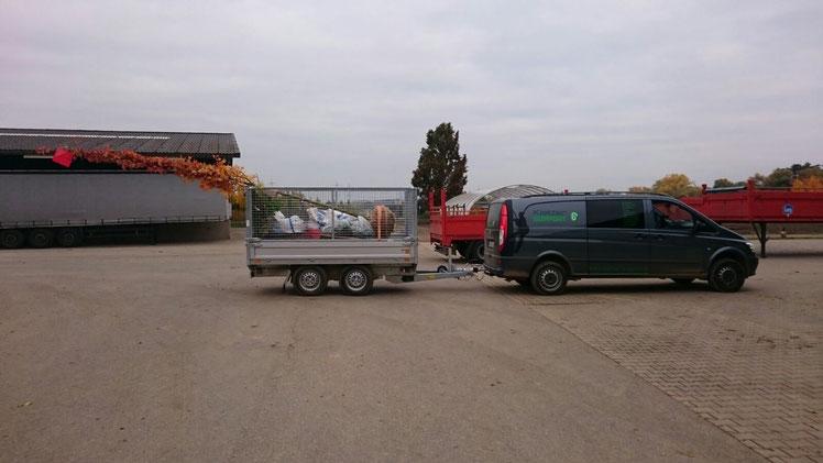Unterwegs zur Baumpflanzung in Köln - Kletter Support GmbH