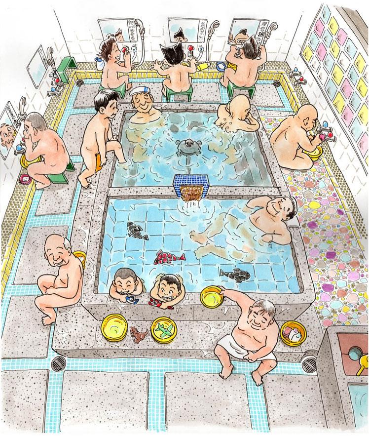 日本の銭湯風景 ♨️ Japanese Style SENTOU by / Lucky Uematsu