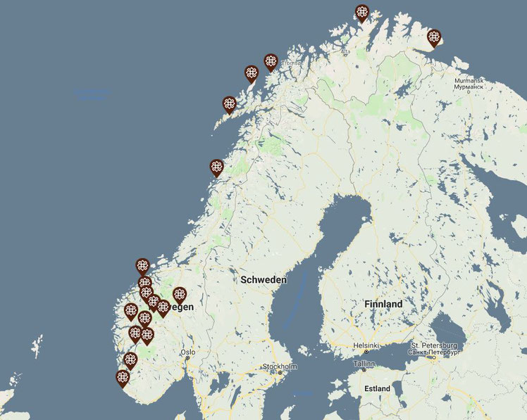 Norwegische Landschaftsrouten (Download von  Karten & Broschüren!)