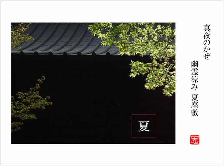真夜のかぜ幽霊涼み夏座敷  幽霊(ゆうれい)北鎌倉東慶寺 160602撮影