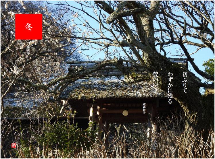 2017/11/17作句 北鎌倉 東慶寺 山門