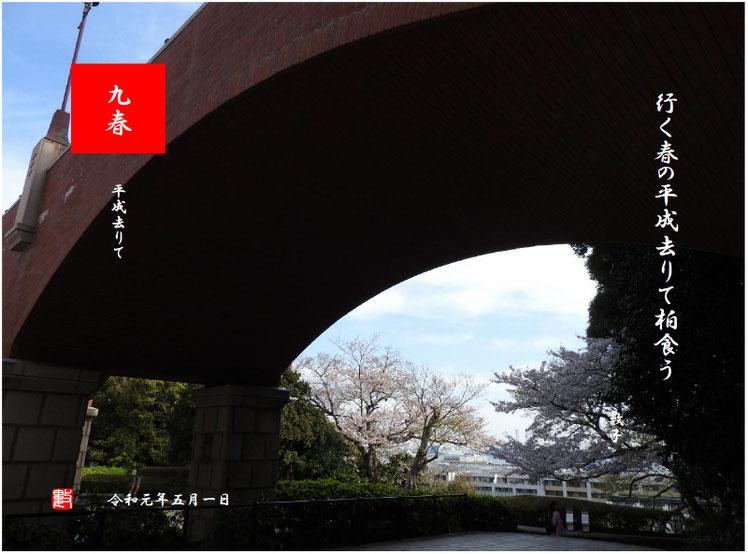 行く春の平成去りて柏食う   平成去りて 2019/04/07作句 2019/04/05撮影横浜山手