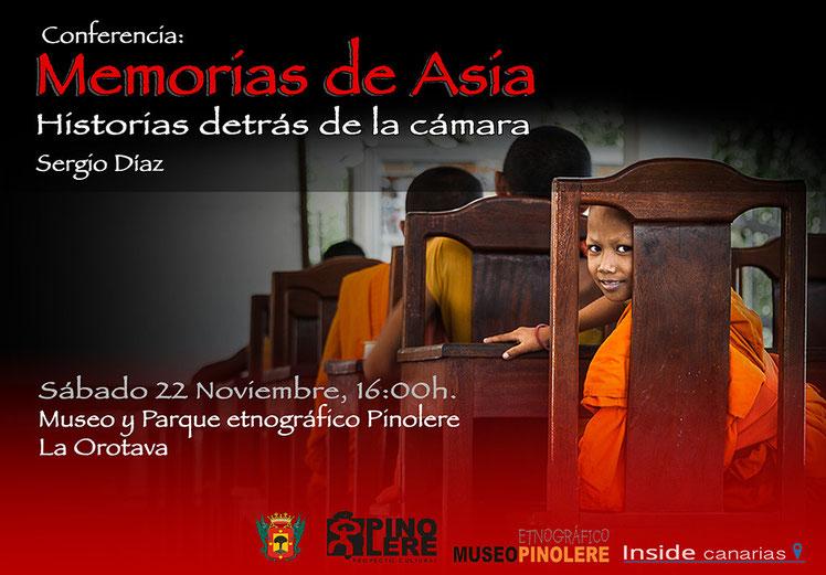 Conferencia Memorias de Asia en La Orotava, Tenerife