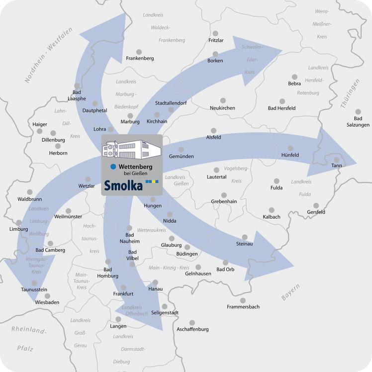 Lieferbezirk Smolka in Hessen und Umland