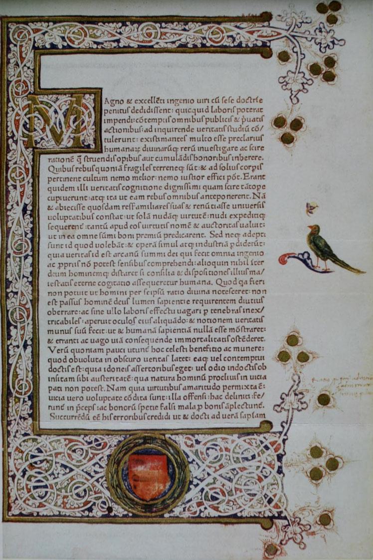 Lactantius, Opera. Romae, Sweymheyn et Pannarte, 1468.
