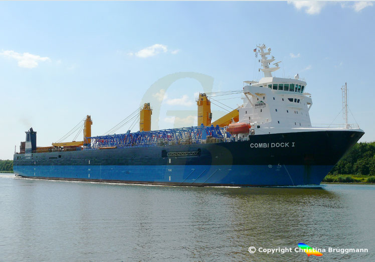 Dock-, Ro-Ro, Heavy Lift Schiff COMBI DOCK I der SAL , 01.08.2018