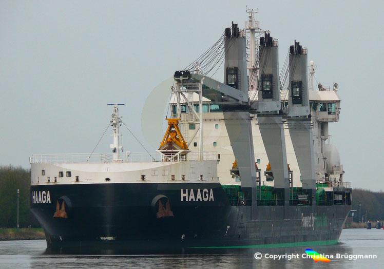 Bulk Carrier/ Mehrzweckfrachter HAAGA, Nord-Ostsee Kanal 02.04.201