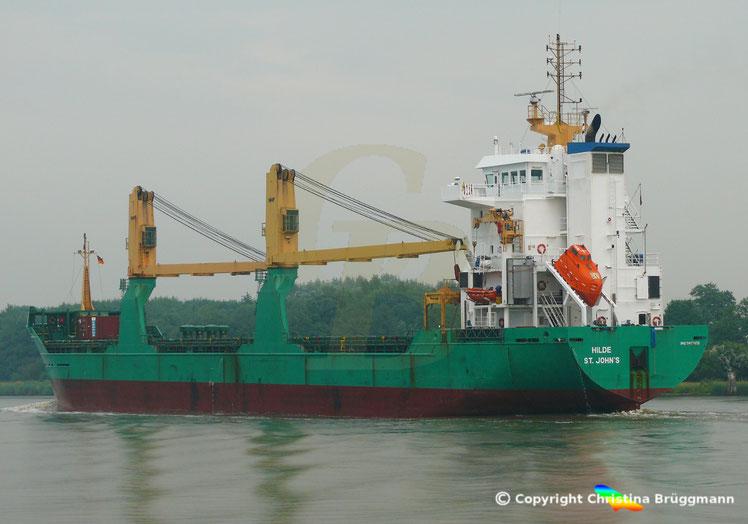 Mehrzweckfrachter HILDE, Elbe Nord-Ostsee Kanal 10.06.2018