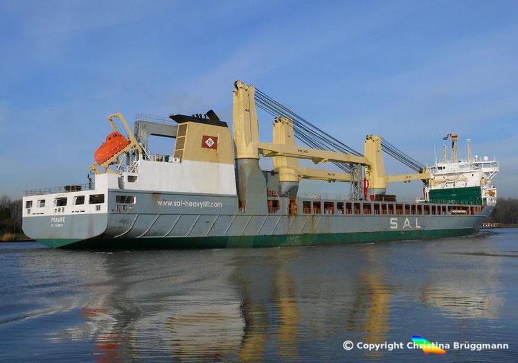 SAL Heavy Lift Vessel FRAUKE, Nord-Ostsee Kanal 22.01.2019