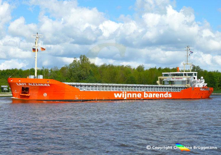 Mehrzweckfrachter LADY ALEXANDRA, Nord-Ostsee-Kanal 07.05.2019