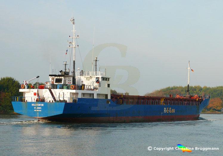 General Cargo HOLSTENTOR, Nord-Ostsee Kanal 17.10.2018