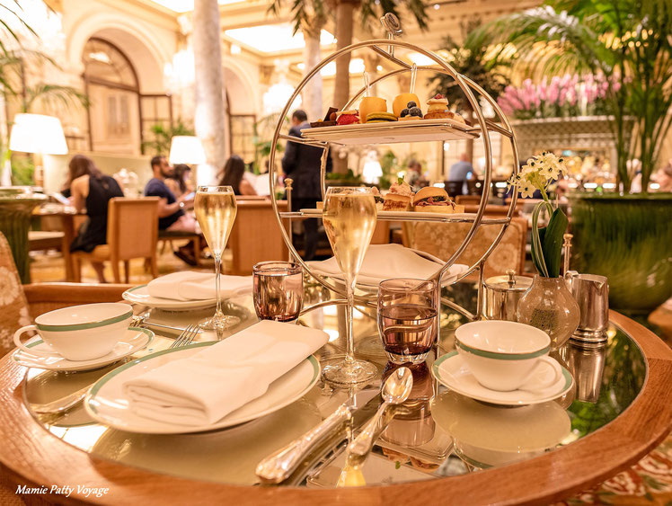 Champagne Tea at the Palm Court, Plaza Hotel, New York