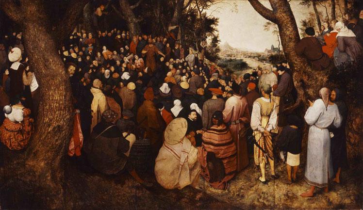 """Pieter Bruegel I, """"La predicazione di San Giovanni Battista"""" (1566)"""