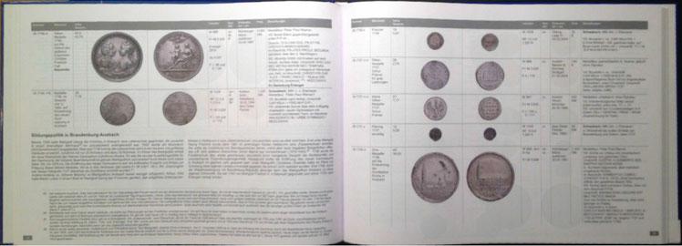 Auf 164 Seiten und in mehr als 1100 farbigen Darstellungen wird die Geschichte aus über dreieinhalb Jahrhunderten (Schwabacher) Prägetätigkeit von der Gotik bis zum Klassizismus lebendig.