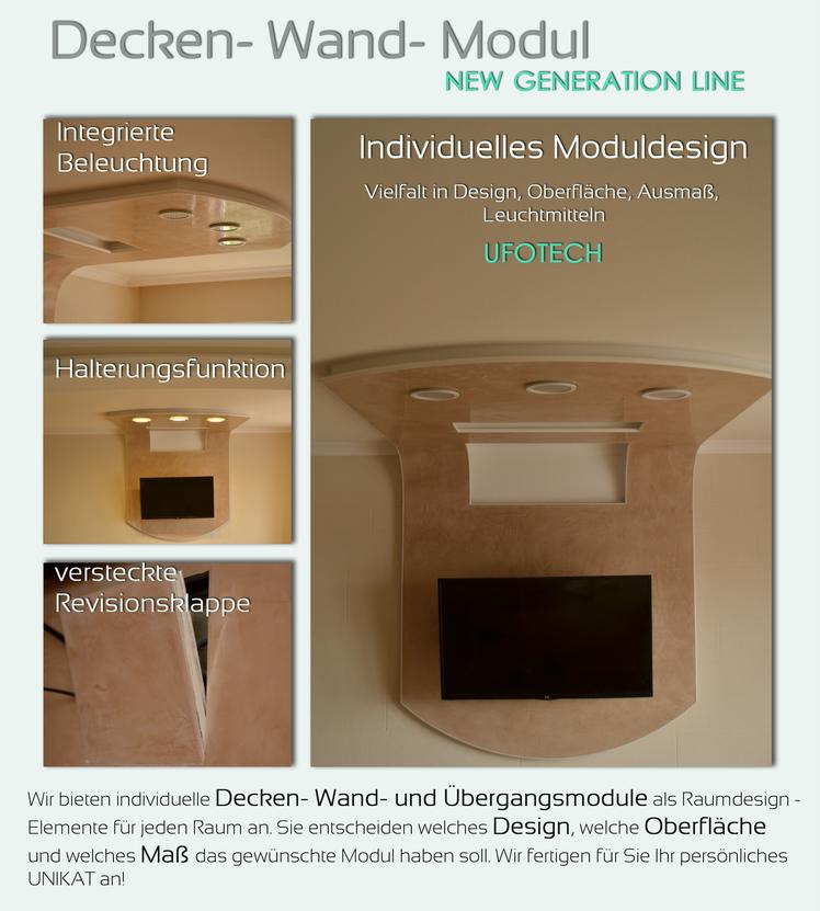 Decken- Wand- Designmodul NEW GENERATION PRODACT von GERZEN wand-design