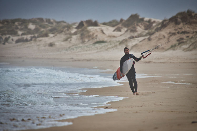 Portugal im Winter - Kitesurfen in Peniche