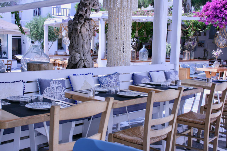 Mykonos Greece of penguins & elephants Caesar's restaurant