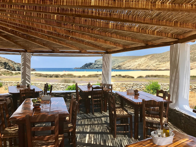 Mykonos Greece of penguins & elephants Fokos taverna restaurant