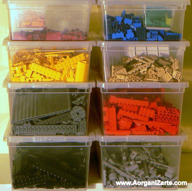 Clasificar lego por colores - www.AorganiZarte.com