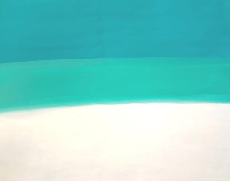 "C2 0010  Calm  Acrylic on Canvas  July 18, 2018  24.00"" H x 18.00"" W     SOLD"