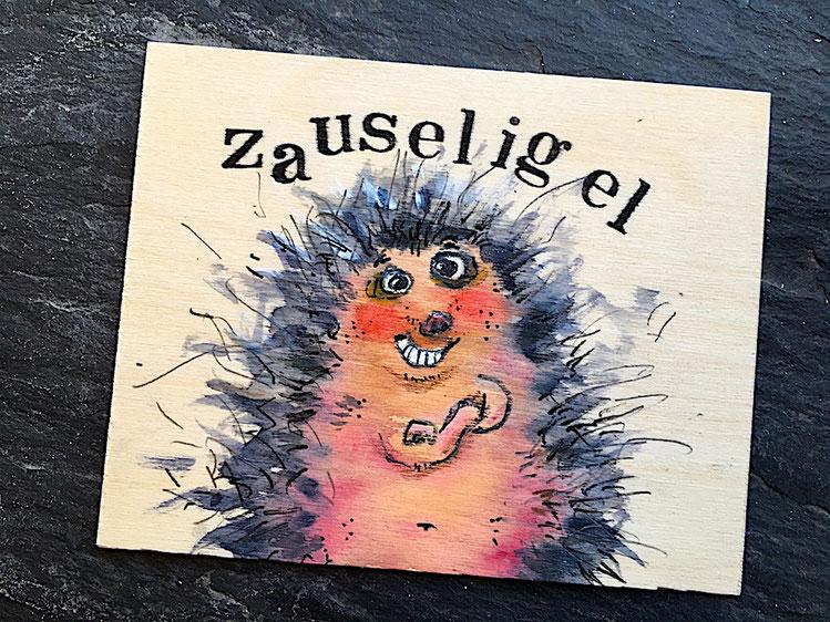 Einen Igel mit zauseligen Stacheln nennt man Zauseligel.